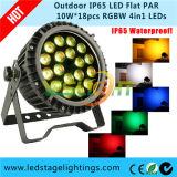 Super Bright LED Flat PAR Light RGBW 4in1 Epistar LEDs met Ce, RoHS