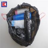 製造業者の世帯のきれいなHDPEのドローストリングのごみ袋