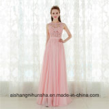 Elegante línea sexy espalda abierta Vintage vestido de noche vestidos de Prom largo