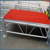Rk bewegliches Aluminiumstadium mit roter Plattform für Leistungs-Ereignis