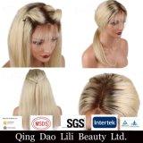 """Densidade 8 da beleza 130-300 de Lili """" - 30 """" perucas cheias peruanas do cabelo humano do laço para a parte dianteira do laço do Virgin das mulheres pretas personalizaram a etiqueta"""