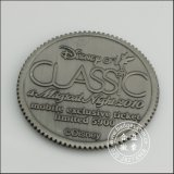 Silver antico Plated Metal Coin con Engraved Logo (GZHY-JZ-083)