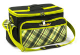 Grande insieme del cestino del sacco di picnic isolato BBQ di nuovo disegno