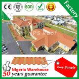 Matériau de construction léger tuile de toit plat recouvert de pierre pour Villa de toiture