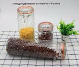 3PC 벽공 유리제 뚜껑으로 놓이는 유리제 음식 저장 단지