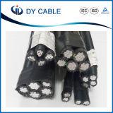 Cable liado aéreo del ABC del cable de Power/PVC/XLPE/Overhead 0.6/1 kilovoltios