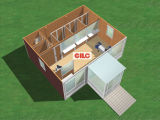 Living HouseおよびOfficeとして移動式Container House