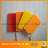 Lámina de acrílico de plástico duro/PMMA panel de plexiglás de diferente grosor