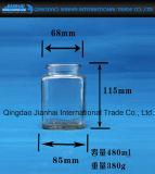 Quadratische Glaswaren für Essiggurken und Nahrung enthalten