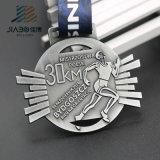 亜鉛合金のカスタム旧式な銀および青銅賞の連続したマラソンのスポーツメダル