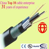 32 núcleos llenos de jalea de cable de fibra óptica de la prueba de humedad