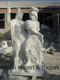 Sculpture découpée et humaine d'art en pierre normale de granit en Bouddha