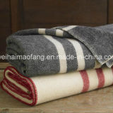 100%Wool Military /Army Woven Woollen Blanket