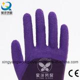 폴리에스테 강선 유액 거품 3/4의 입히는 안전 작동 장갑 (L004)