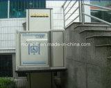 Elevación de la plataforma residencial vertical con los bordes de seguridad