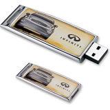 Mecanismo impulsor del flash del USB del metal con Keychain