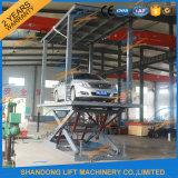 Difficulté sur le levage hydraulique de stationnement de véhicule de ciseaux au sol à vendre