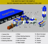 machine à fabriquer des blocs de béton et de creux (QT10)