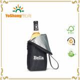 Le sac personnalisé de refroidisseur de vin du polyester 70d/a isolé 1 sac de refroidisseur de vin de bouteille