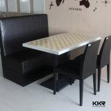 Mobilier d'intérieur en surface solide Toiles de table blanches