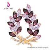 一等級の卸し売り水晶宝石類のラインストーンの花のブローチPin