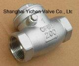 Soupape de retenue en acier inoxydable fileté en acier inoxydable de haute qualité (H14)