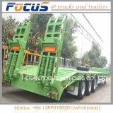 de 50tons Lowbed da plataforma do caminhão reboque hidráulico Semi para o transporte da máquina escavadora