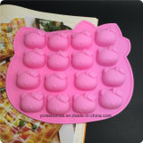 Moule de bâton de gâteau de bruit de cuve de 16 silicones, bonjour conception de Kitty