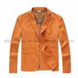 Toevallige Blazer van oranje de Katoenen van 100% Mensen (SKM6020)
