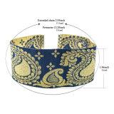 民族様式の濃紺の金カラー勾配の傾斜路のスパンコール宮殿パターン女性のための簡単で広いチョークバルブのネックレス