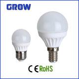 Aluminium de qualité plus la lumière d'ampoule en plastique de la puissance faible LED