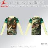 Healongロゴの昇華釣日焼け止めのワイシャツ