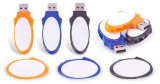 Soem-kugelförmiger Schwenker/drehen USB grelles Pendrive (PZS001)