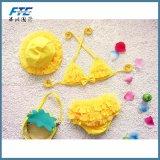 Biquini de três partes para o Swimsuit do Swimwear do bebé