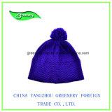 Chapéu azul do Knit do inverno do estilo 2017 simples