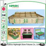 China-Lieferanten-hölzerne Obst- und GemüseBildschirmanzeige-Regal-Bildschirmanzeige-Zahnstange