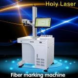 Machine d'inscription de laser de fibre en métal de fer