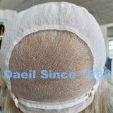 Peluca llena ondulada del cordón del pelo rubio