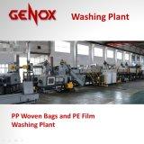 Plástico tecido PP dos sacos do elevado desempenho que lava recicl a máquina