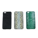 Cassa mobile del telefono delle cellule del pitone del cuoio genuino della pelle per il iPhone