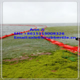 Boom sólido colorido del aceite del PVC del flotador, agua que llena el boom de la presa de goma