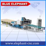 1325 linha de produção de madeira da auto alimentação do CNC do router, máquina do router do CNC para o alumínio, porta de gabinete da cozinha