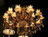Luz de cristal moderna do candelabro da lâmpada do dispositivo elétrico de iluminação do pendente da decoração de Phine 10 RMS Swarovski