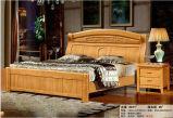 Hotel-Bett, China-Schlafzimmer-Möbel, hölzernes Bett (9086)