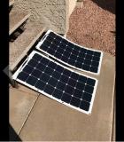 Le panneau solaire semi flexible le plus élevé de Sunpower 100W de rendement de système domestique avec le prix bas