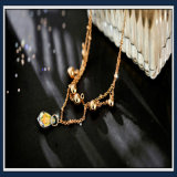 新しいデザイン真珠および金属部分の方法宝石類のアンクレット
