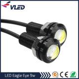 9W 18mm White LED 12V olho de águia DRL diurna da luz de freio