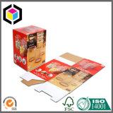 Rectángulo de empaquetado plegable del papel del cartón acanalado de un sólo recinto