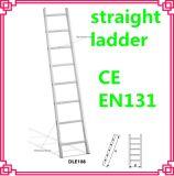 アルミニウムまっすぐなLadder/Householdのステップ中二階の梯子