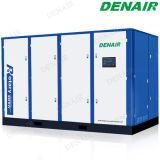 Refrigerado por aire eléctrico compresor de aire de tornillo de baja presión para el textil